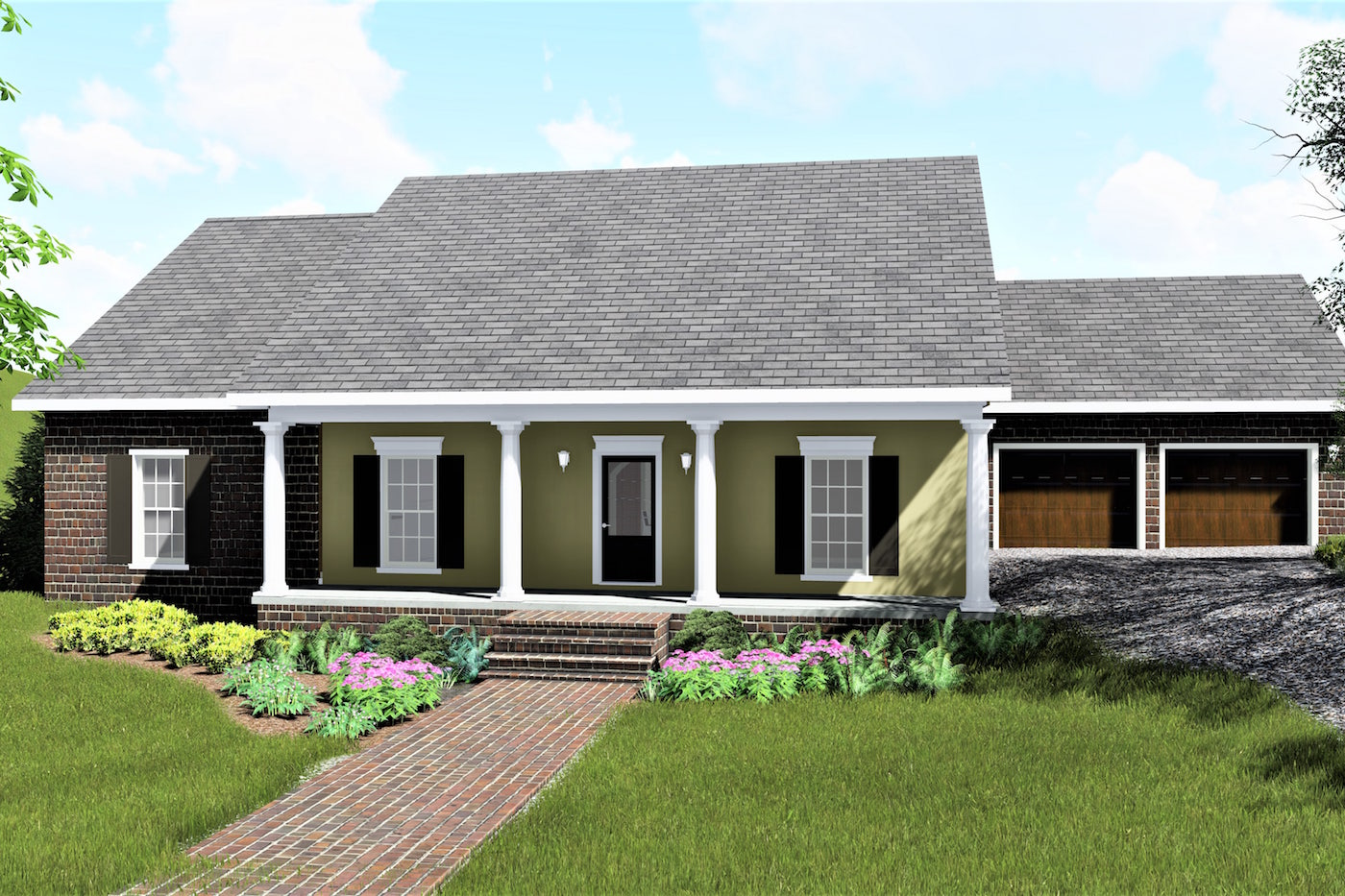 4 Bedrm, 1729 Sq Ft Country House Plan #123-1078