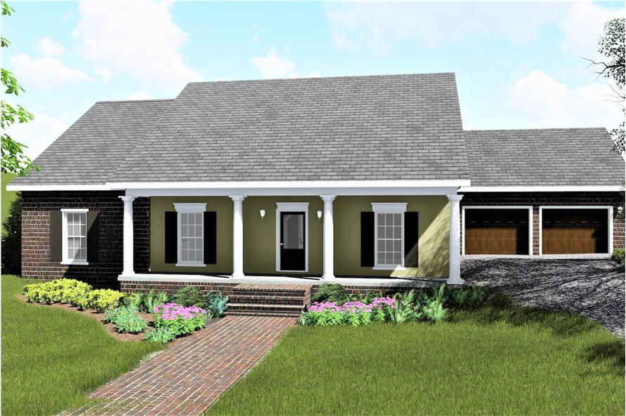 4-Bedroom, 1729 Sq Ft Country House Plan - 123-1078 - Front Exterior