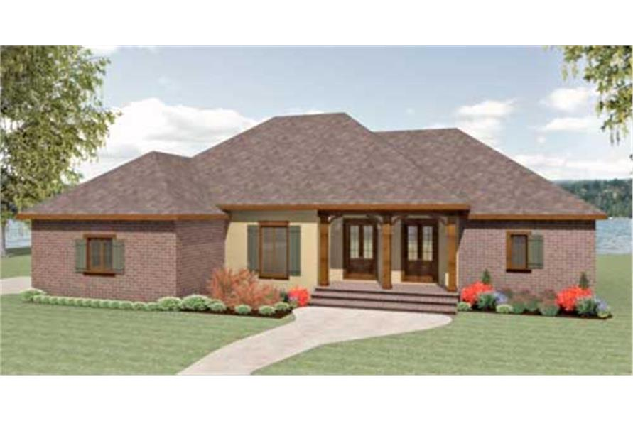 123-1079: Home Plan Front Elevation