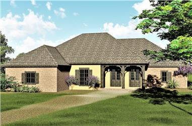 3-Bedroom, 2291 Sq Ft Country House Plan - 123-1079 - Front Exterior