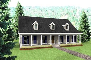4-Bedroom, 3029 Sq Ft Country Home Plan - 123-1080 - Main Exterior