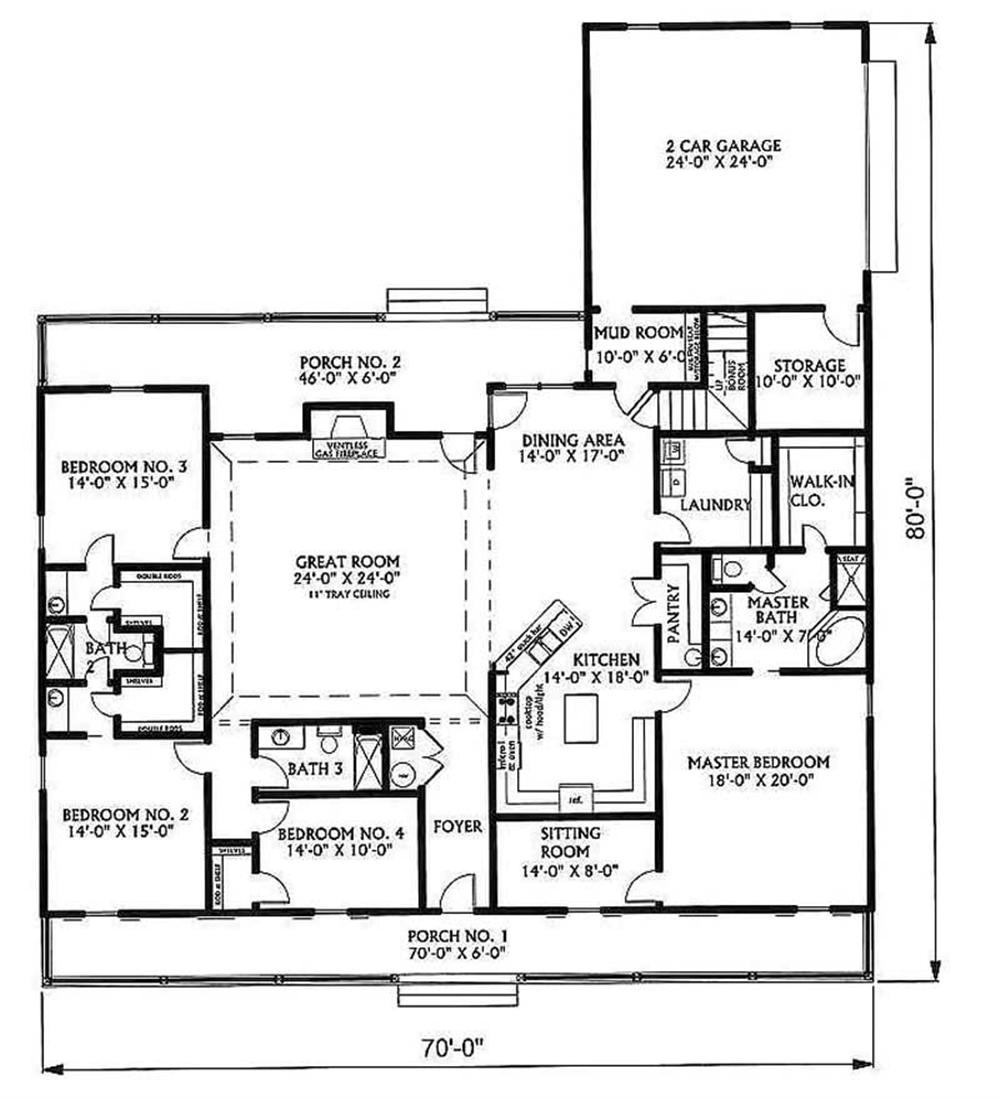 House Plan DP-3329 Main Floor Plan