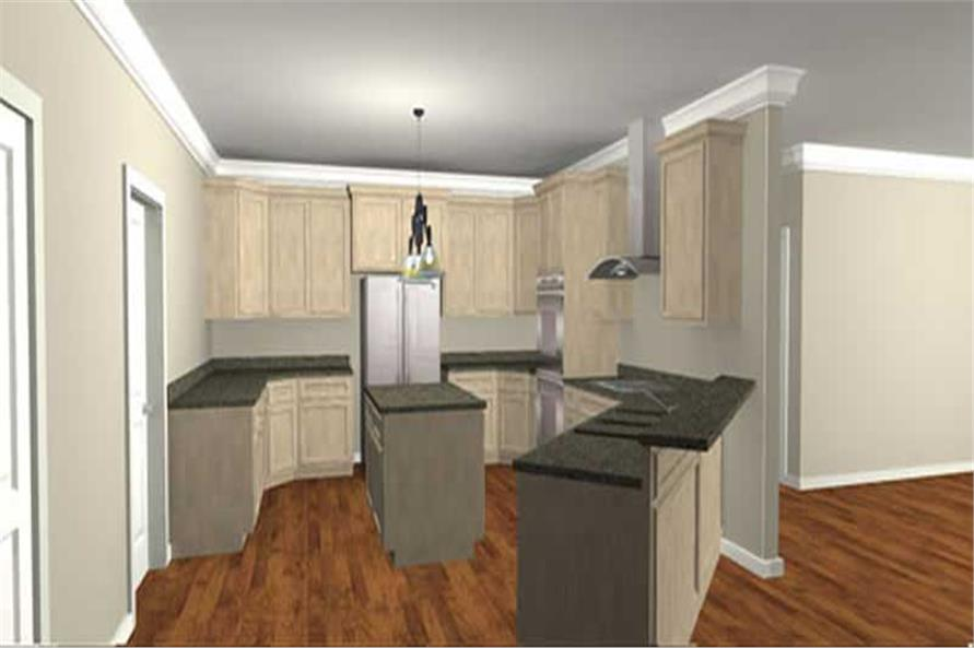 Home Plan 3D Image of this 4-Bedroom,3029 Sq Ft Plan -3029