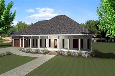 4-Bedroom, 2380 Sq Ft Country Home Plan - 123-1081 - Main Exterior
