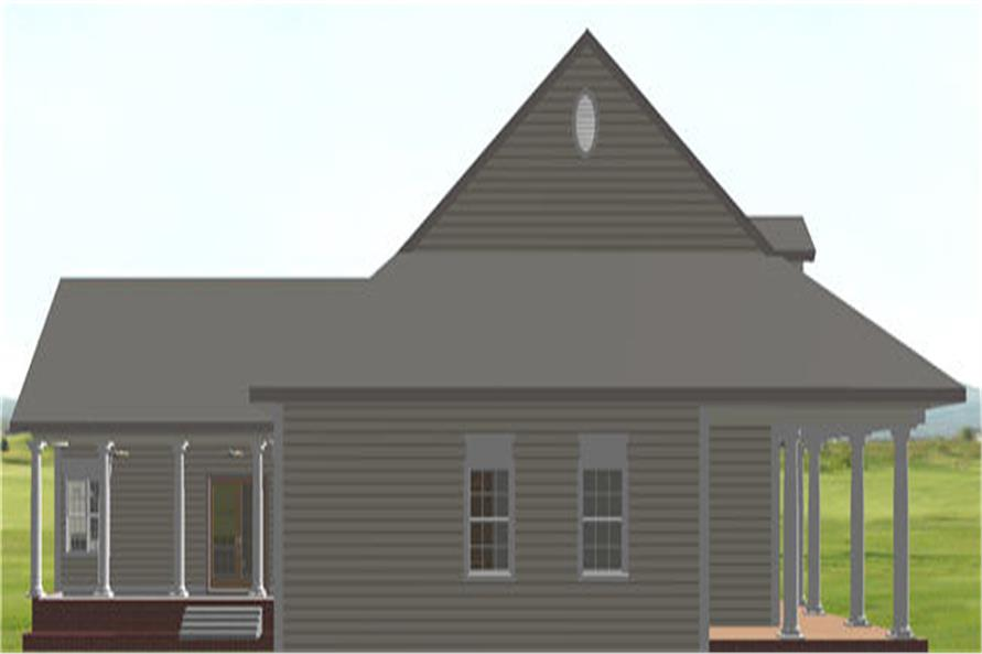 123-1082: Home Plan Left Elevation