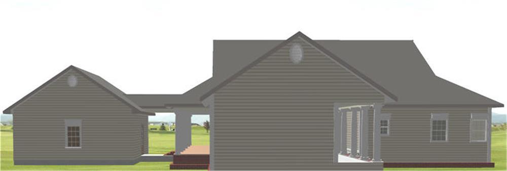 123-1082: Home Plan Rear Elevation