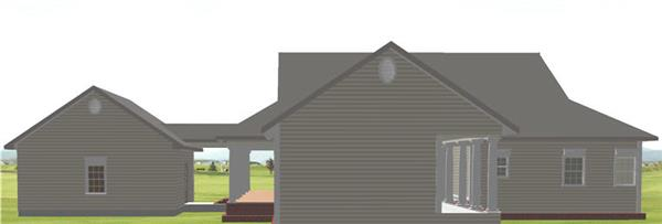 123-1082: Home Plan Rear Elevation
