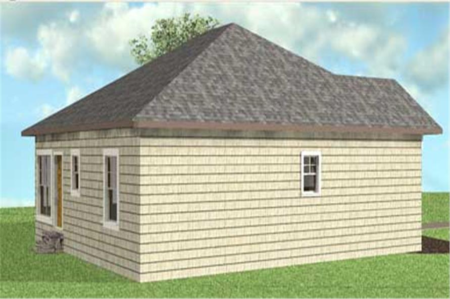 Home Plan Left Elevation of this 2-Bedroom,1073 Sq Ft Plan -123-1083