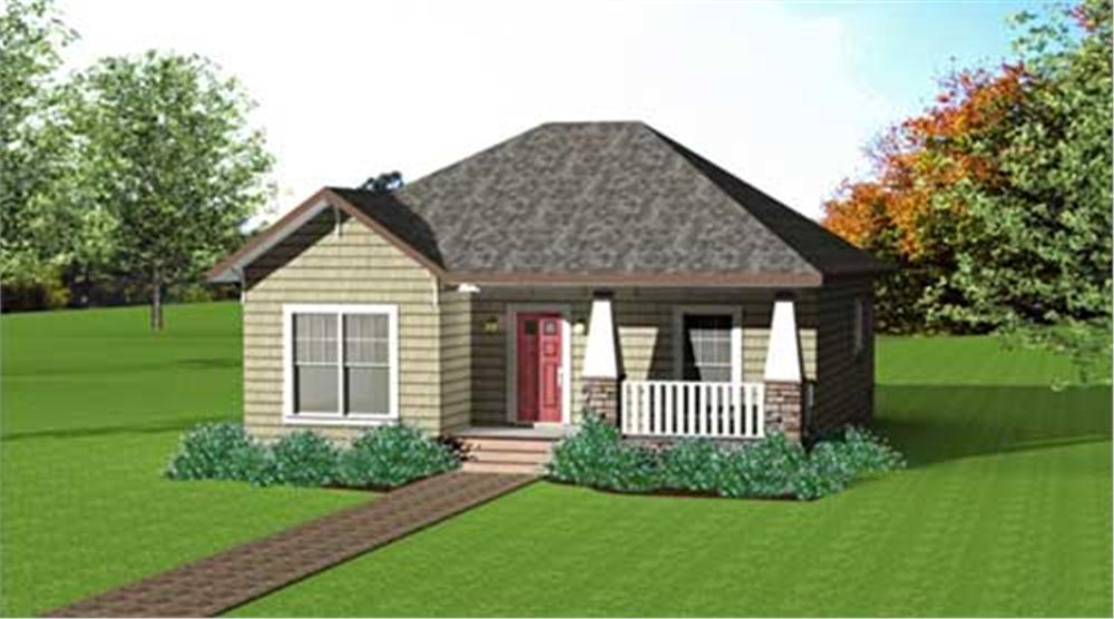 Front elevation of Country home (ThePlanCollection: House Plan #123-1083)