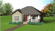 This image shows the front elevation of these country house plans.