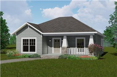 2-Bedroom, 1073 Sq Ft Country Home Plan - 123-1083 - Main Exterior