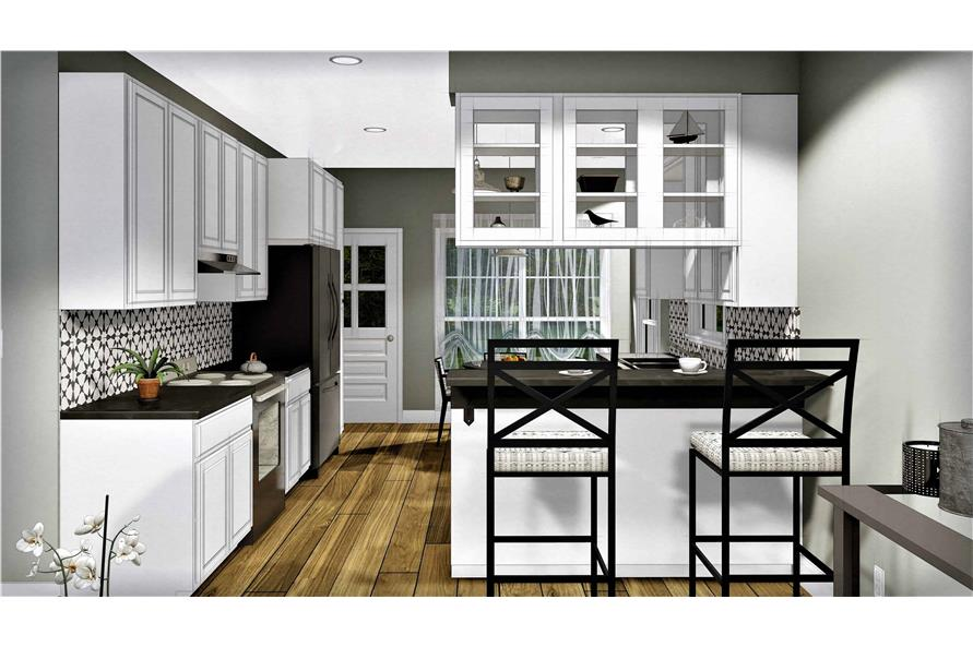 Kitchen of this 3-Bedroom,1260 Sq Ft Plan -1260