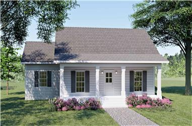 3-Bedroom, 1260 Sq Ft Country Home Plan - 123-1084 - Main Exterior