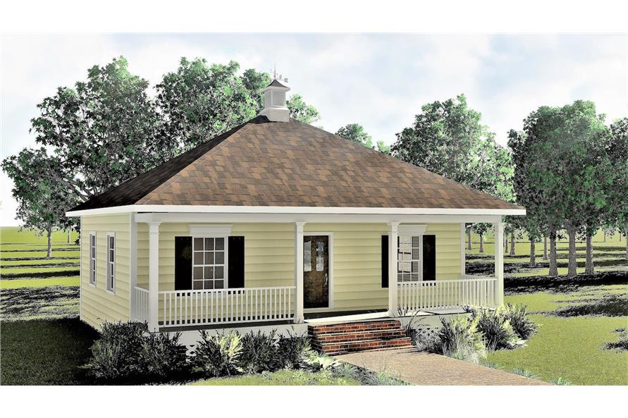 Home Plan Rendering of this 2-Bedroom,864 Sq Ft Plan -864