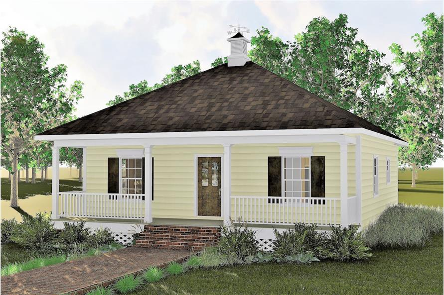2-Bedroom, 864 Sq Ft Bungalow Home Plan - 123-1085 - Main Exterior