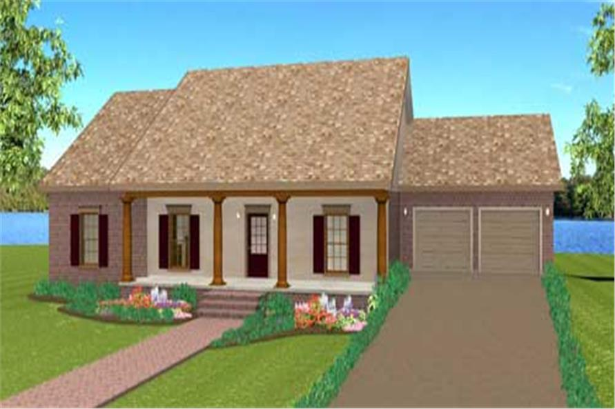 Country House Plans DP-1629.