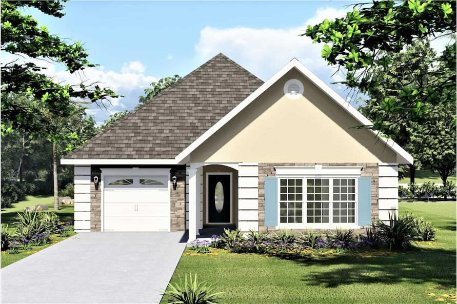 Front View of this 2-Bedroom,1312 Sq Ft Plan -123-1090