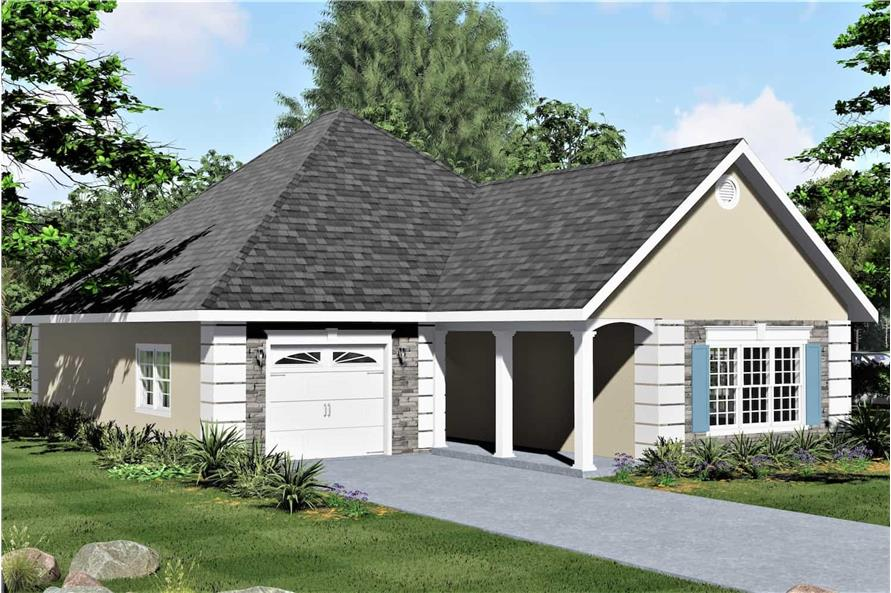 Left View of this 2-Bedroom,1312 Sq Ft Plan -123-1090