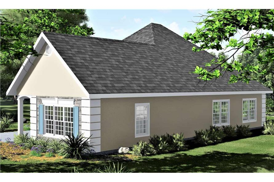 Right View of this 2-Bedroom,1312 Sq Ft Plan -123-1090
