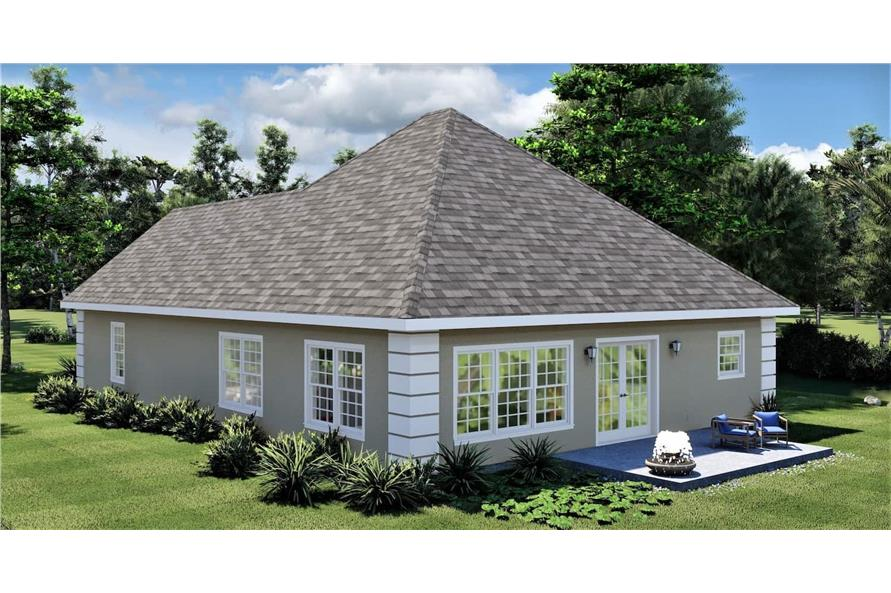 Rear View of this 2-Bedroom,1312 Sq Ft Plan -123-1090