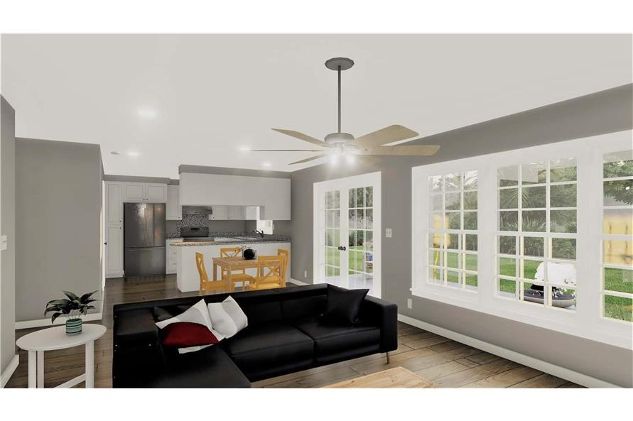 Great Room of this 2-Bedroom,1312 Sq Ft Plan -123-1090