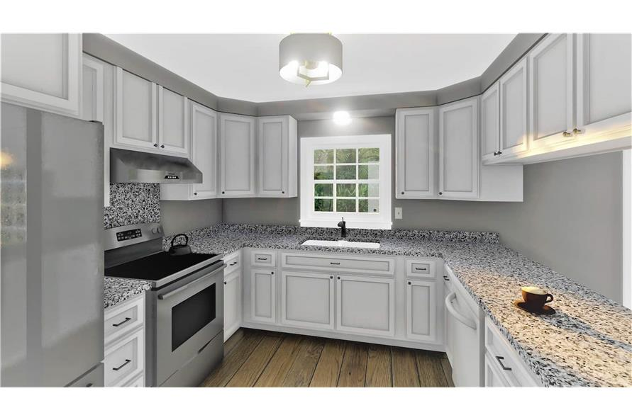 Kitchen of this 2-Bedroom,1312 Sq Ft Plan -123-1090