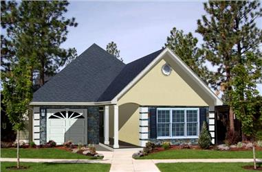 2-Bedroom, 1312 Sq Ft Small House Plans - 123-1090 - Front Exterior