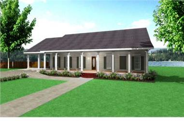 4-Bedroom, 2380 Sq Ft Country Home - Plan #123-1091 - Main Exterior
