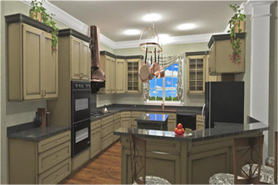 Home Plan 3D Image of this 3-Bedroom,2208 Sq Ft Plan -123-1093