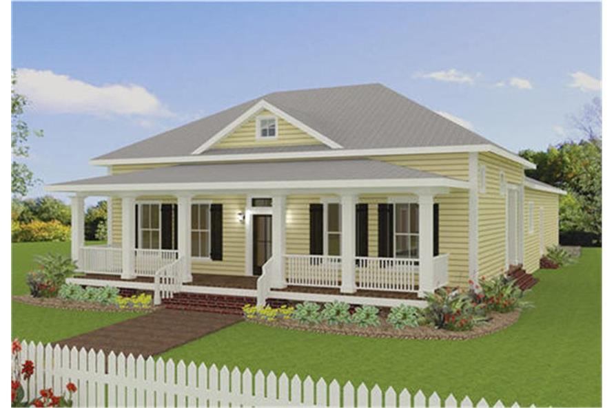 Home Plan Rendering of this 3-Bedroom,2208 Sq Ft Plan -123-1093