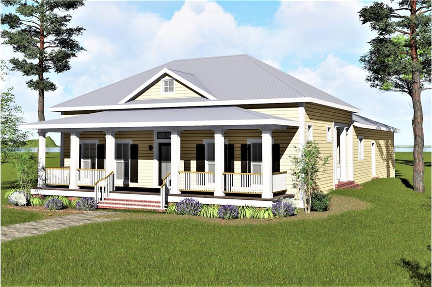3-Bedroom, 2208 Sq Ft Country Home Plan - 123-1093 - Main Exterior