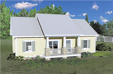 3-Bedroom, 1311 Sq Ft Ranch House Plan - 123-1094 - Front Exterior