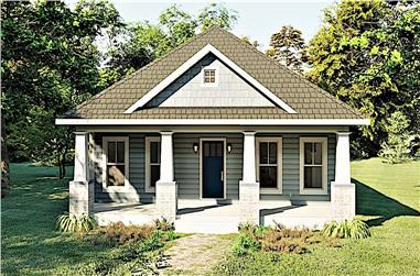 3-Bedroom, 1587 Sq Ft Ranch House Plan - 123-1095 - Front Exterior