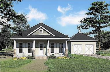 3-Bedroom, 1587 Sq Ft Ranch House Plan - 123-1096 - Front Exterior