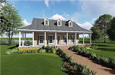 3-Bedroom, 1717 Sq Ft Ranch Home Plan - 123-1097 - Main Exterior