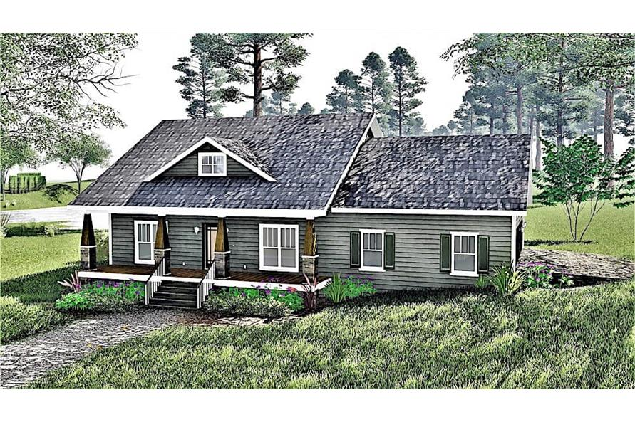 Home Plan Rendering of this 2-Bedroom,1882 Sq Ft Plan -1882