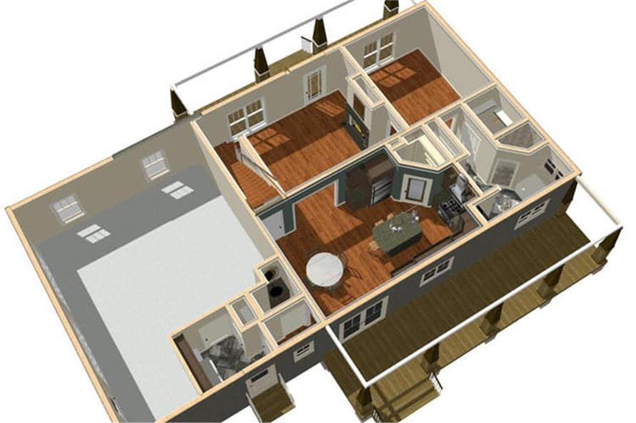 Home Plan 3D Image of this 2-Bedroom,1882 Sq Ft Plan -1882