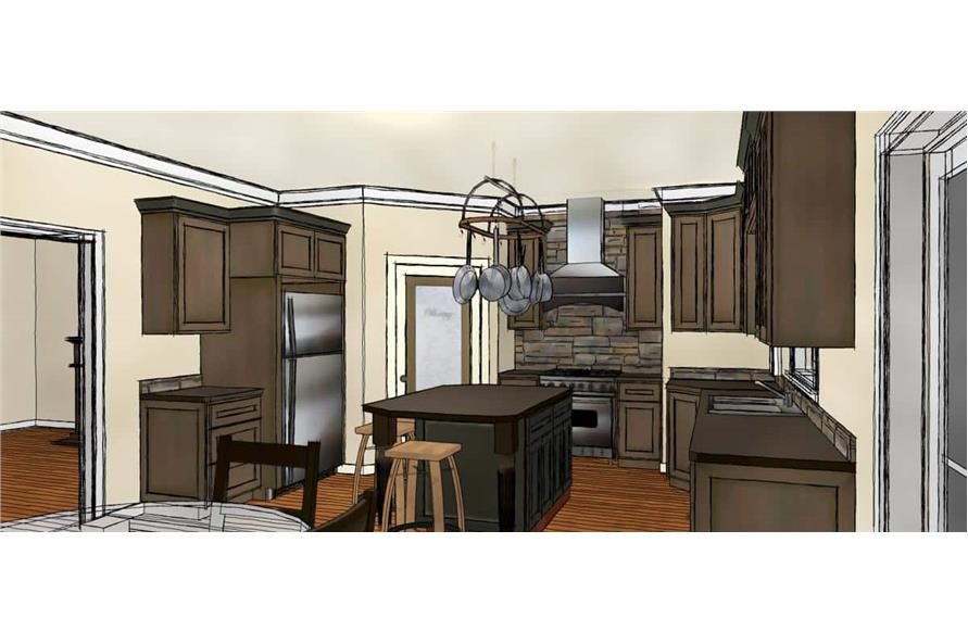 Kitchen of this 2-Bedroom,1882 Sq Ft Plan -1882