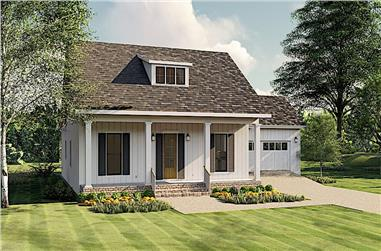 3-Bedroom, 1908 Sq Ft Ranch House Plan - 123-1099 - Front Exterior