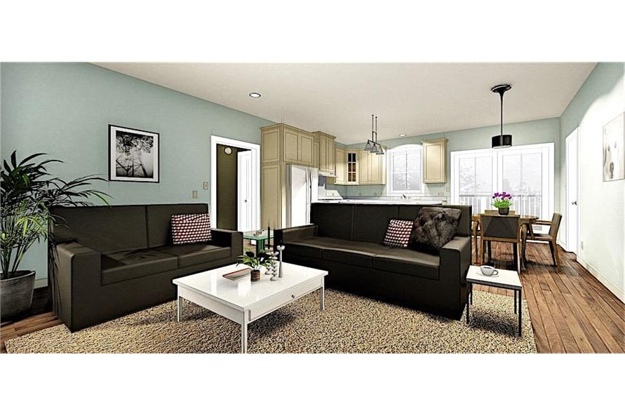 Great Room of this 3-Bedroom,1311 Sq Ft Plan -1311