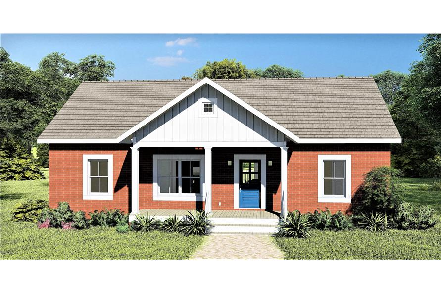 Front View of this 3-Bedroom,1311 Sq Ft Plan -1311