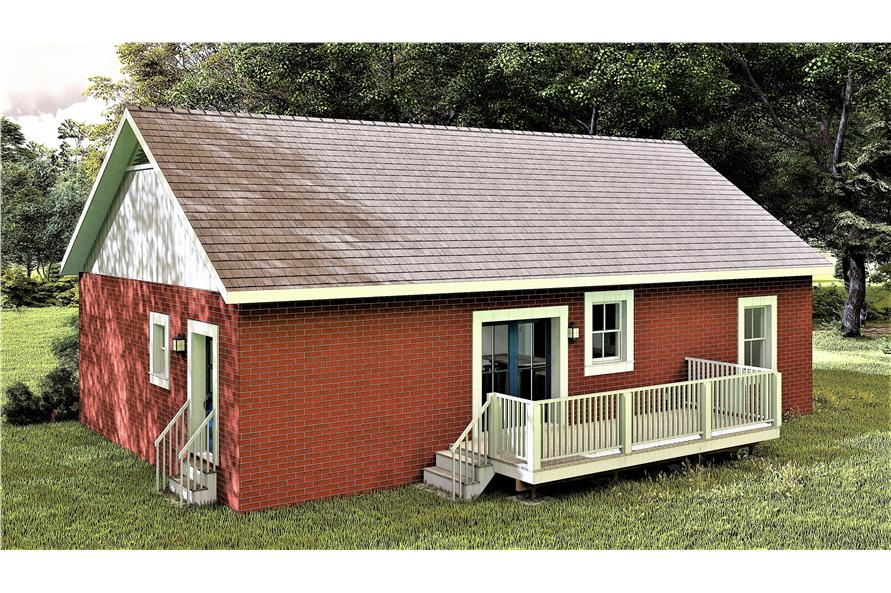 Rear View of this 3-Bedroom,1311 Sq Ft Plan -1311