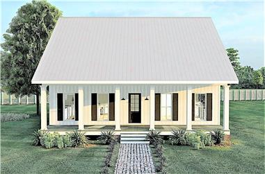 2-Bedroom, 1520 Sq Ft Ranch Home Plan - 123-1103 - Main Exterior