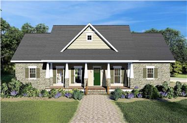 3-Bedroom, 2525 Sq Ft Ranch Home - Plan #123-1105 - Main Exterior