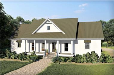 3-Bedroom, 2526 Sq Ft Ranch House - Plan #123-1106 - Front Exterior