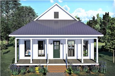 2-Bedroom, 890 Sq Ft Bungalow House - Plan #123-1108 - Front Exterior