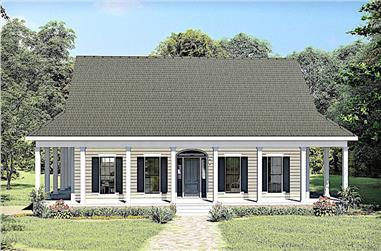 3-Bedroom, 2159 Sq Ft Ranch Home Plan - 123-1110 - Main Exterior