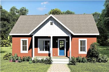 3-Bedroom, 1311 Sq Ft Ranch Home - Plan #123-1111 - Main Exterior
