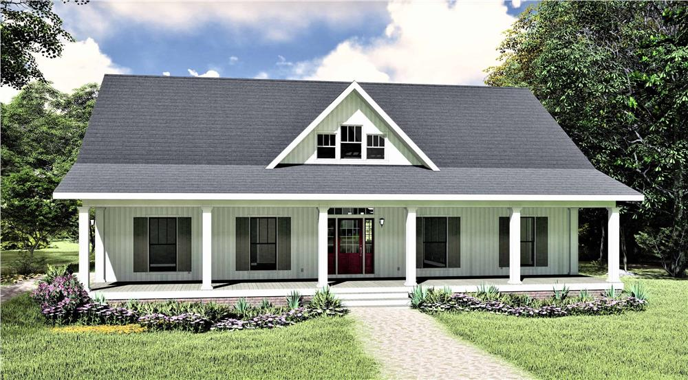 Ranch home (ThePlanCollection: Plan #123-1112)