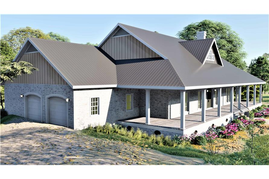 Left View of this 3-Bedroom,2090 Sq Ft Plan -2090
